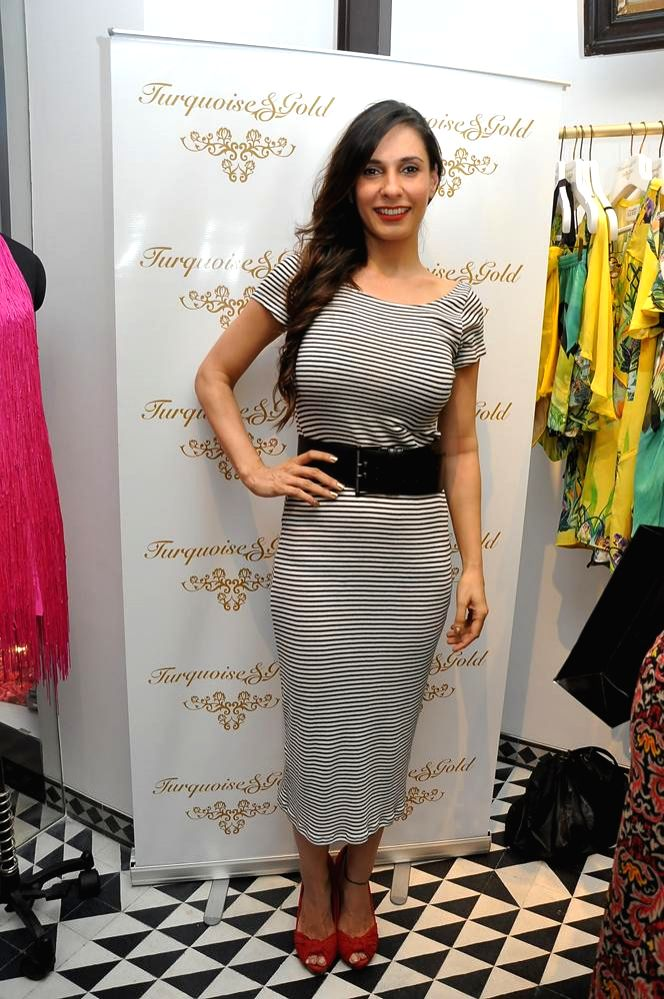 Ramona Arena during the launch of Turquoise & Gold store in Mumbai on April 16, 2014.
