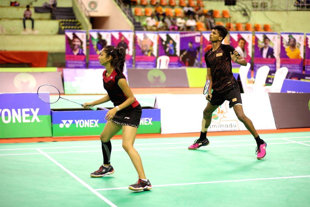 Ramya C V and Satish.