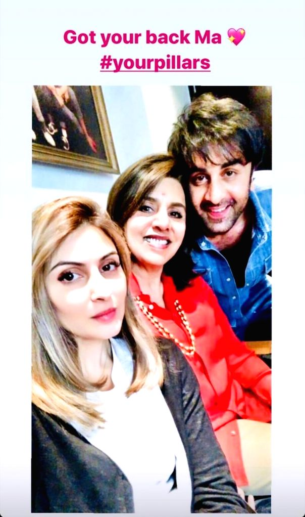 Ranbir, Riddhima are Neetu Kapoor's 'pillars' of strength. - Neetu Kapoor