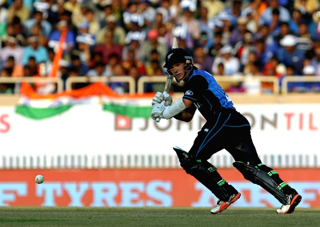 Ranchi: BJ Watling of New Zealand in action during the fourth ODI match between India and New Zealand at JSCA International Stadium Complex in Ranchi on Oct 26, 2016. (Photo: Surjeet Yadav/IANS) - Surjeet Yadav