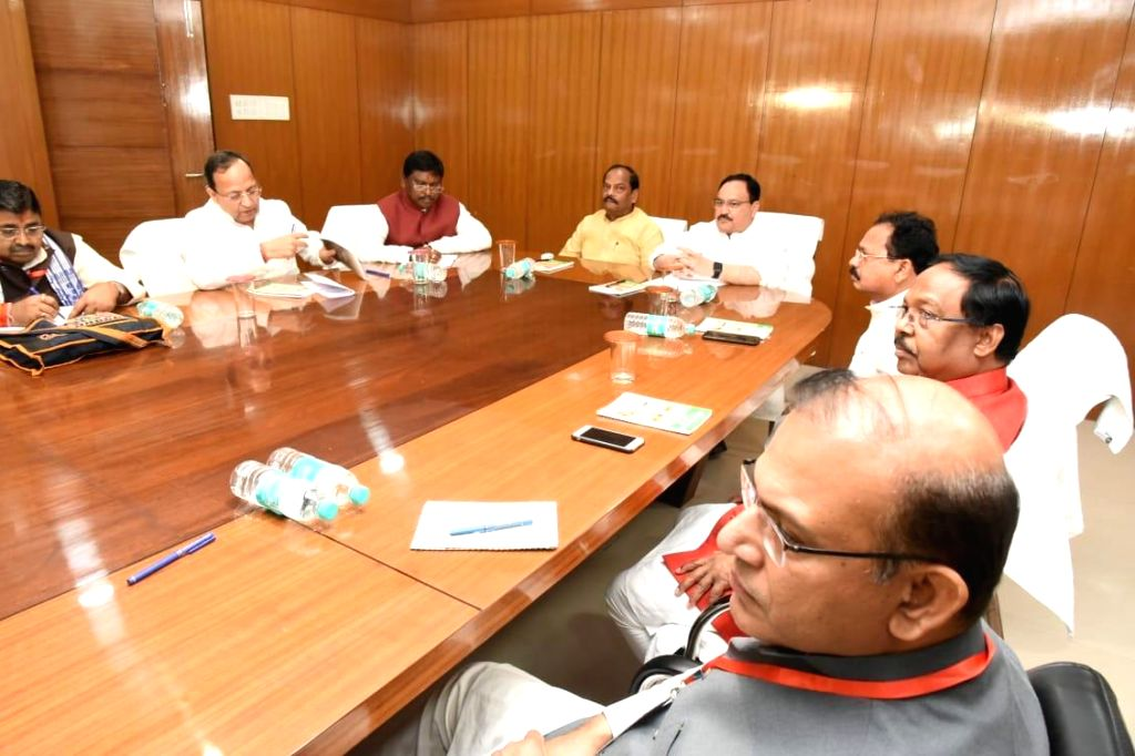 Ranchi: BJP Working President J.P. Nadda and Jharkhand Chief Minister Raghubar Das at the party's Core Committee meeting, in Ranchi on July 13, 2019. (Photo: IANS) - Raghubar Das