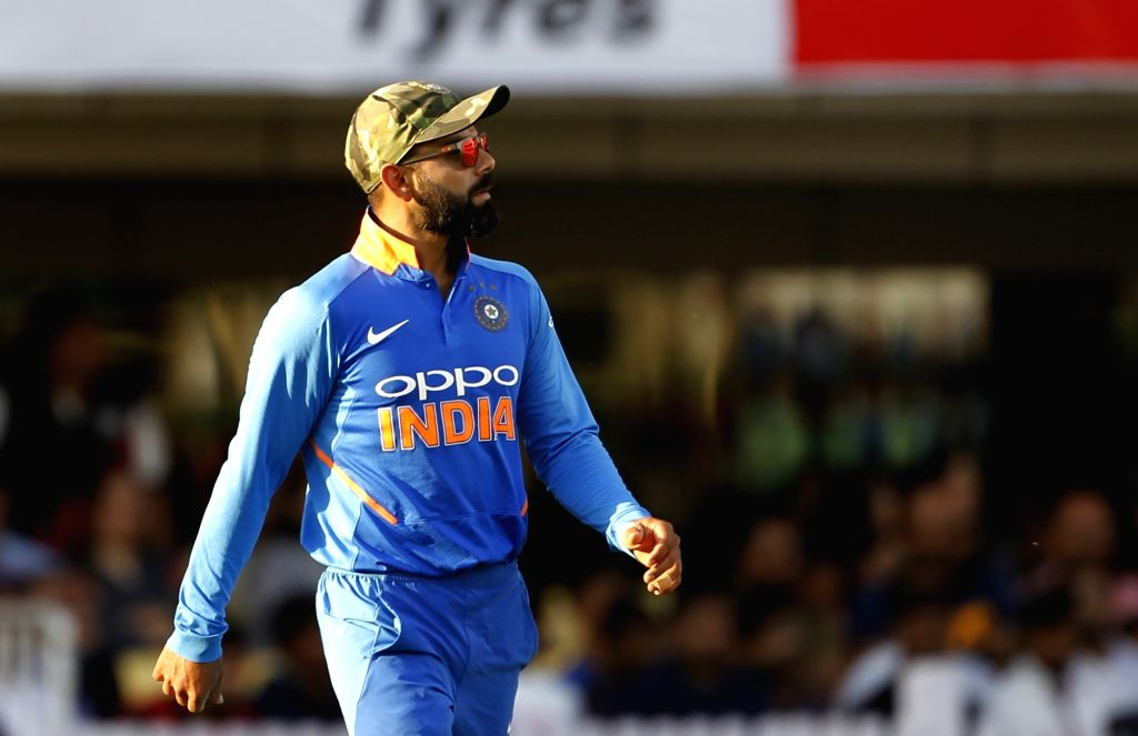 Ranchi: India's Virat Kohli during the third ODI match between India and Australia at JSCA International Stadium Complex in Ranchi on March 8, 2019. (Photo: Surjeet Yadav/IANS) - Virat Kohli and Surjeet Yadav