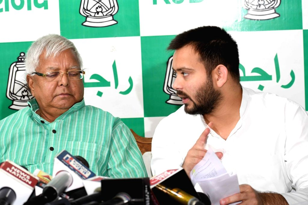 Ranchi, June 11 (IANS) Leader of Opposition in Bihar Assembly Tejashwi Yadav on Thursday met his father Lalu Prasad at a paying ward of Rajendra Institute of Medical Science (RIMS) hospital here and extended birthday greetings. - Assembly Tejashwi Yadav