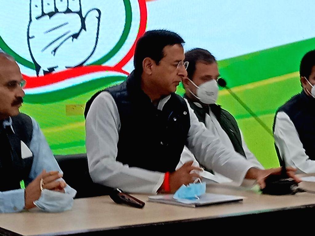 Randeep Singh Surjewala and Rahul Gandhi. - Randeep Singh Surjewala and Rahul Gandhi