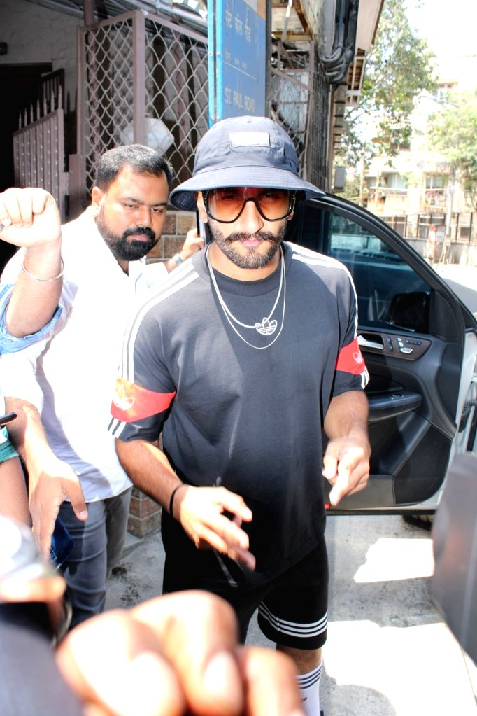 Ranveer Singh seen in Mumbai's Bandra, on April 12, 2019. - Ranveer Singh