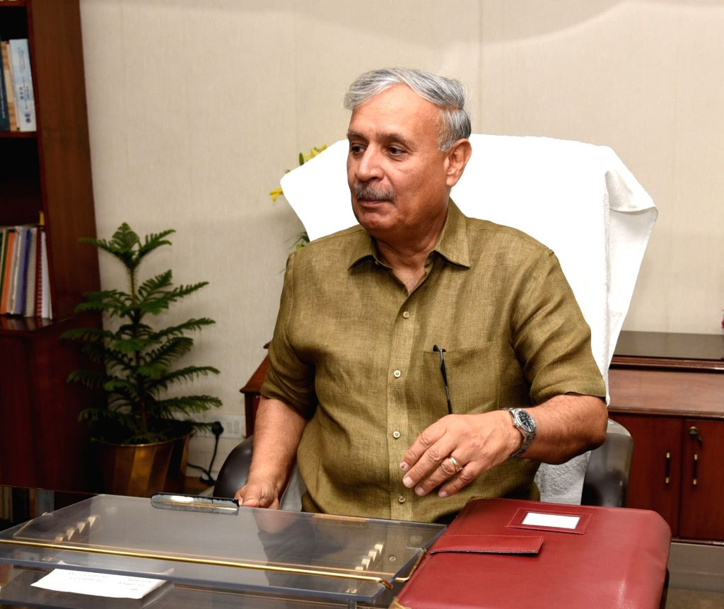 Rao Inderjit Singh takes charge as the Minister of State for Statistics and Programme Implementation (Independent Charge), in New Delhi on June 3, 2019. - Rao Inderjit Singh