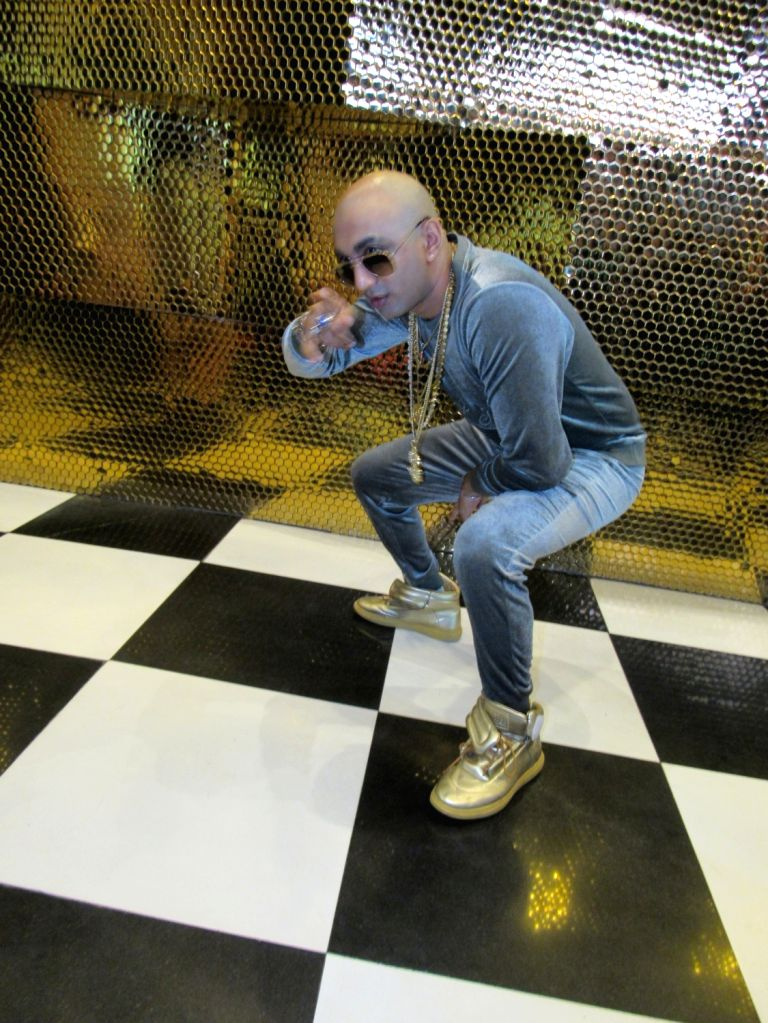 "Rapper Akash Anil Dadlani at the launch of his song ""Bang Bang"", in New Delhi on June 30, 2018."