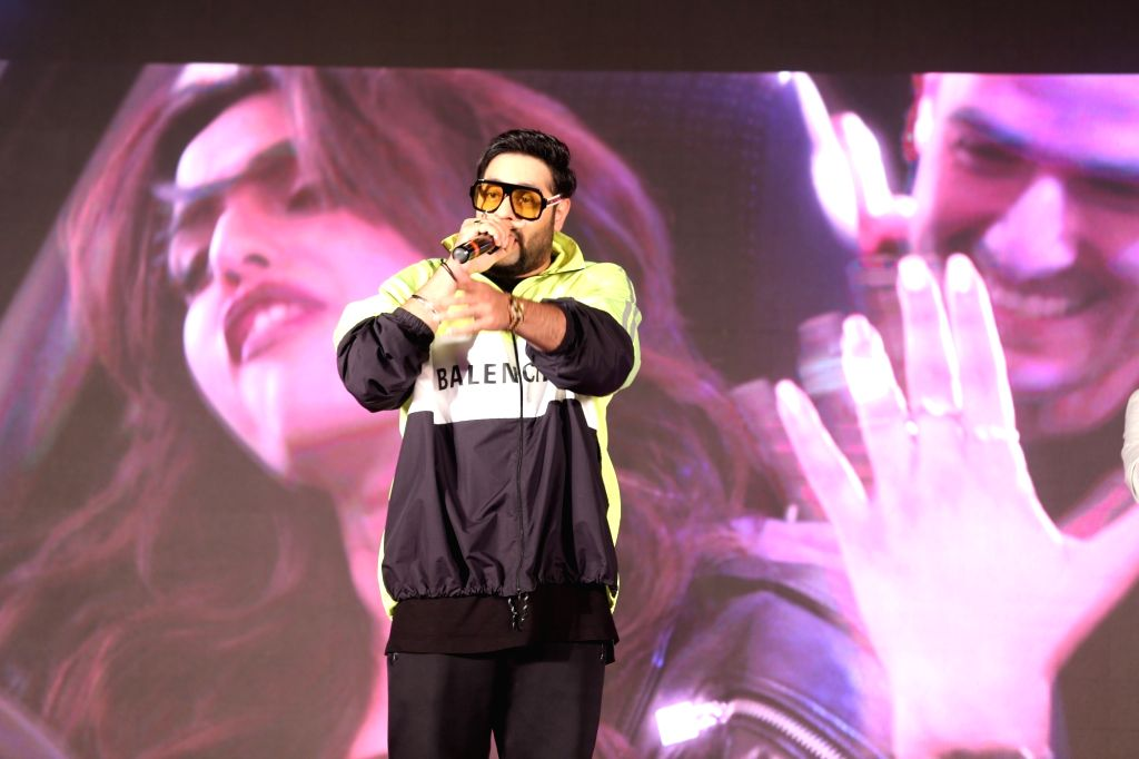 "Rapper Badshah at the music launch of upcoming film ""Veere Di Wedding"" in Mumbai on May 22, 2018."
