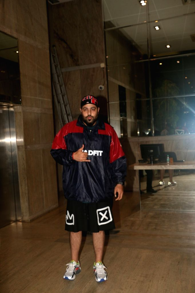 "Rapper Badshah at the screening of the upcoming film ""India's Most Wanted"" in Mumbai, on May 22, 2019."