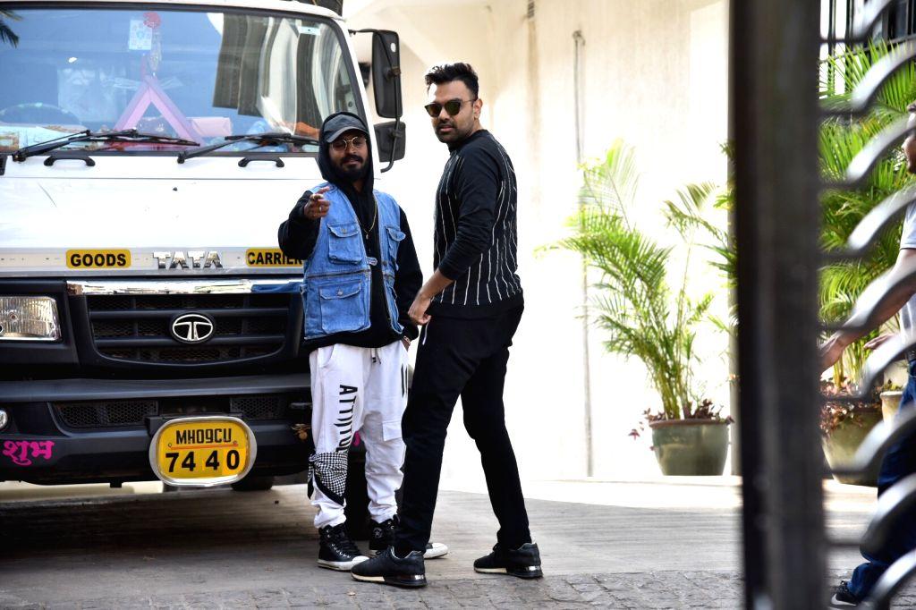 Rapper Emiway Bantai and DJ Chetas at a Mumbai club on March 7, 2019.