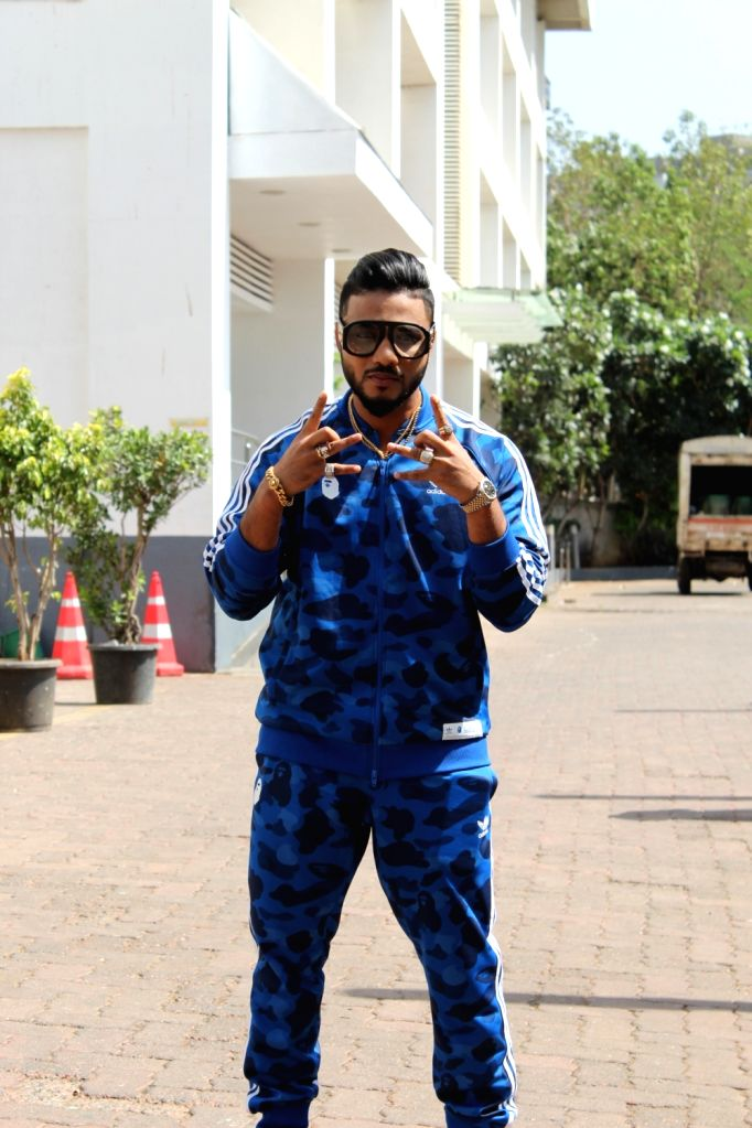 """Rapper Raftaar on the sets of dance reality show """"Dance India Dance"""" in Mumbai, on May 30, 2019."""