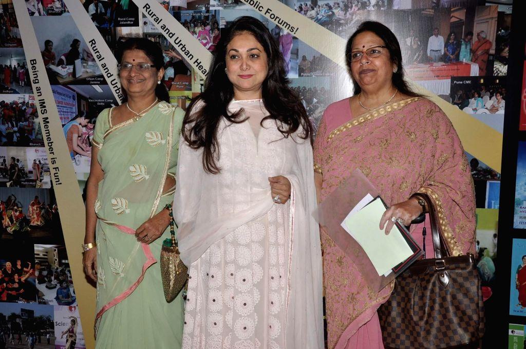 Rashmi Shah,Organizing secretaries, Tina Ambani, wife of Anil Ambani, chairman of Anil Dhirubhai Ambani Group, and Preeti Galvankar during the first ever International Congress on Menopause in India . - Rashmi Shah and Dhirubhai Ambani Group