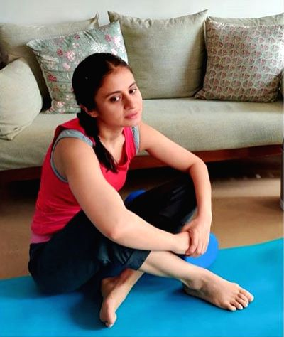 Rasika Dugal shares a snapshot of her post-yoga mellow.