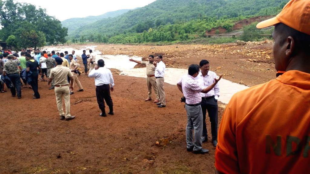 Ratnagiri: The Tivare dam that had started overflowing after heavy rain and breached around 9.30 p.m, resulted in a flood-like situation in Mharashtra's Ratnagiri on July 3, 2019. At least seven persons were killed and 20 went missing in a small dam