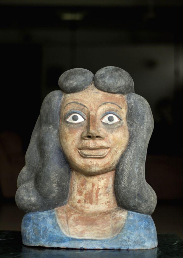 Ravinder Reddy, Terracota Bust, Courtesy of the artist and Emami Art. - Ravinder Reddy