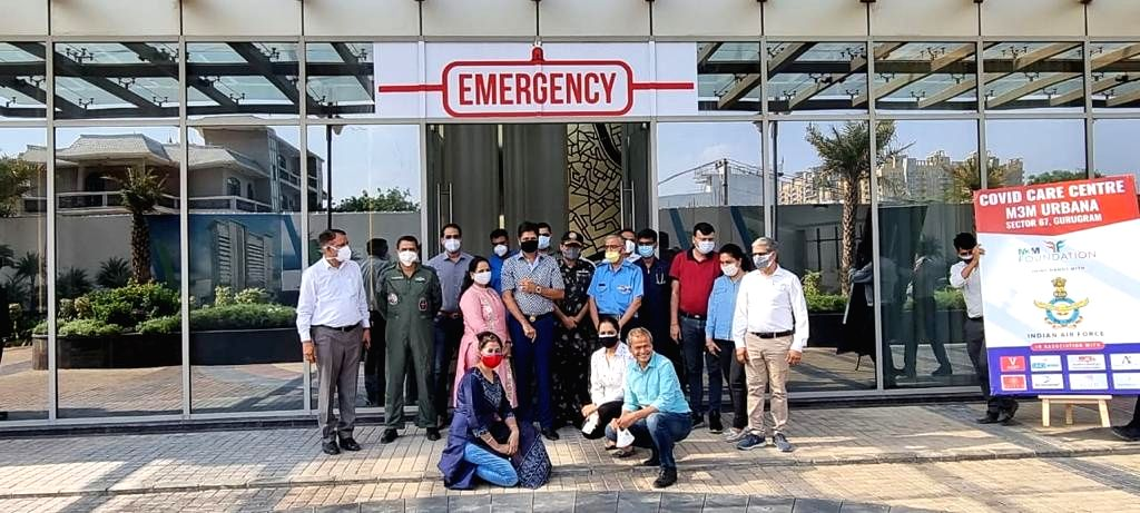 Real estate major and Indian Air force creates 150-bed free Covid Care Centre in Gurugram.