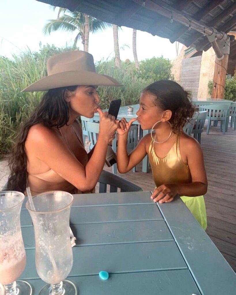 Reality TV star Kim Kardashian has been mum-shamed by social media users for letting her six-year-old daughter North West wear massive hoop earrings. (Photo: Instagram/kimkardashian) - Kim Kardashian
