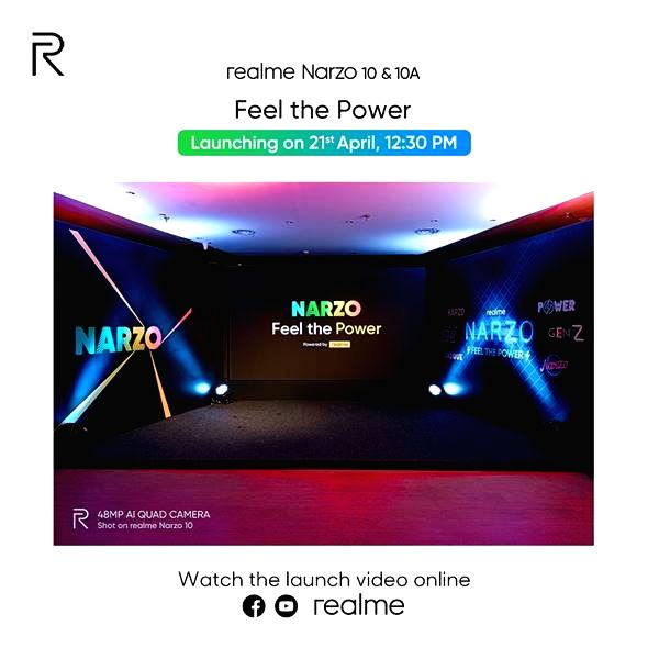 Realme Narzo 10 series to launch on April 21.