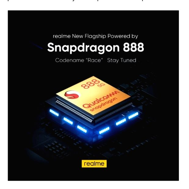 Realme 'Race' with Snapdragon 888 5G mobile platform announced.