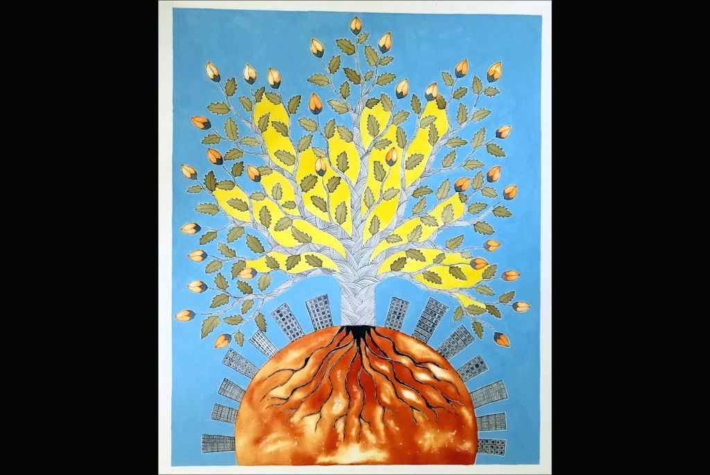 Recent works by Gond artist Venkat Raman Singh Shyam - Venkat Raman Singh Shyam