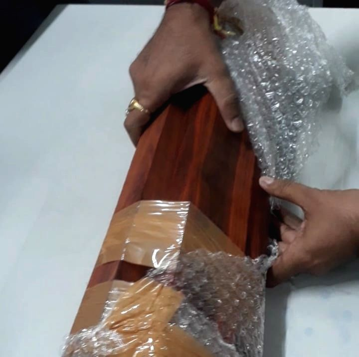 Red Sandalwood recovered at Indira Gandhi International Airport in New Delhi on Sep 28, 2019.