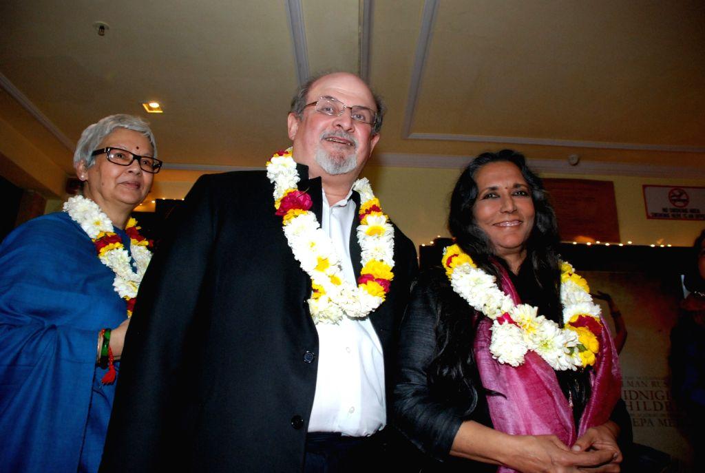 Reeta Devi, Salman Rushdie and Deepa Mehta. - Deepa Mehta