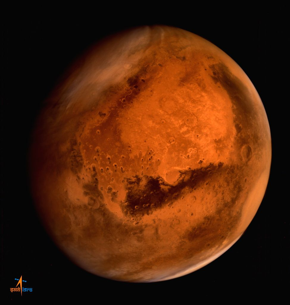 Regional dust storm activities over Northern Hemisphere of Mars - captured by Mars Colour Camera. (Photo Courtesy: ISRO)