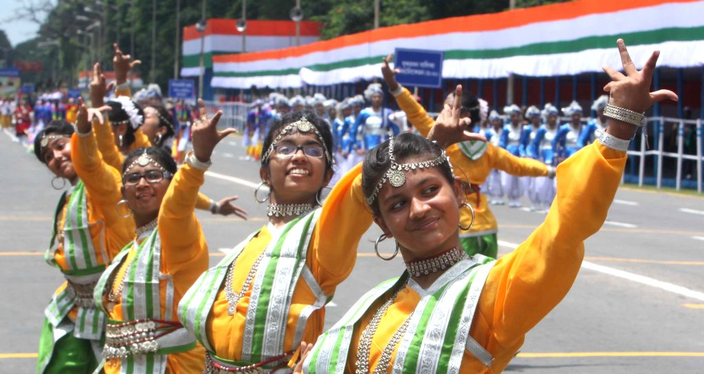 Rehearsals for Independence Day parade underway at Red Road in Kolkata, on Aug 13, 2015.