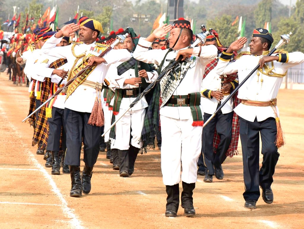 Rehearsals for Republic Day Parade 2018 underway in Secunderabad on Jan 24, 2018.
