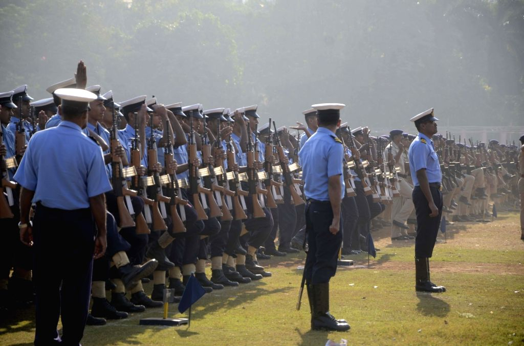 Rehearsals for Republic Day parade underway at Shivaji Park in Mumbai, on Jan 21, 2016.