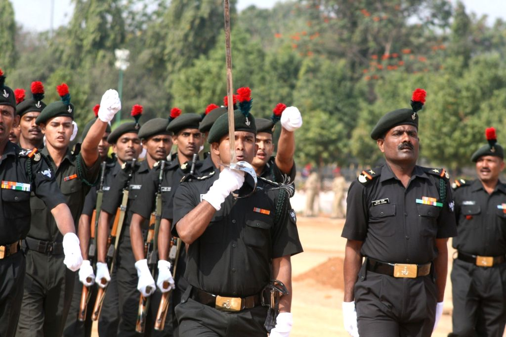 Rehearsals for Republic Day parade underway in Hyderabad, on Jan 21, 2016.
