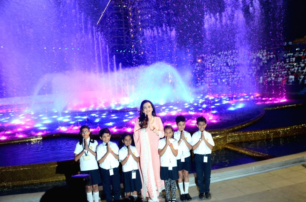 Reliance Foundation Chairperson Nita Ambani at the inauguration of Dhirubhai Ambani Square, in Mumbai's Bandra Kurla Complex on March 6, 2019. - Dhirubhai Ambani Square