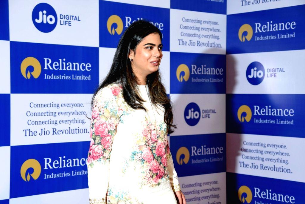 Reliance Industries (RIL) Chairman Mukesh Ambani's daugher, Isha at RIL's 42nd Annual General Meeting in Mumbai on Aug 12, 2019. - Mukesh Ambani