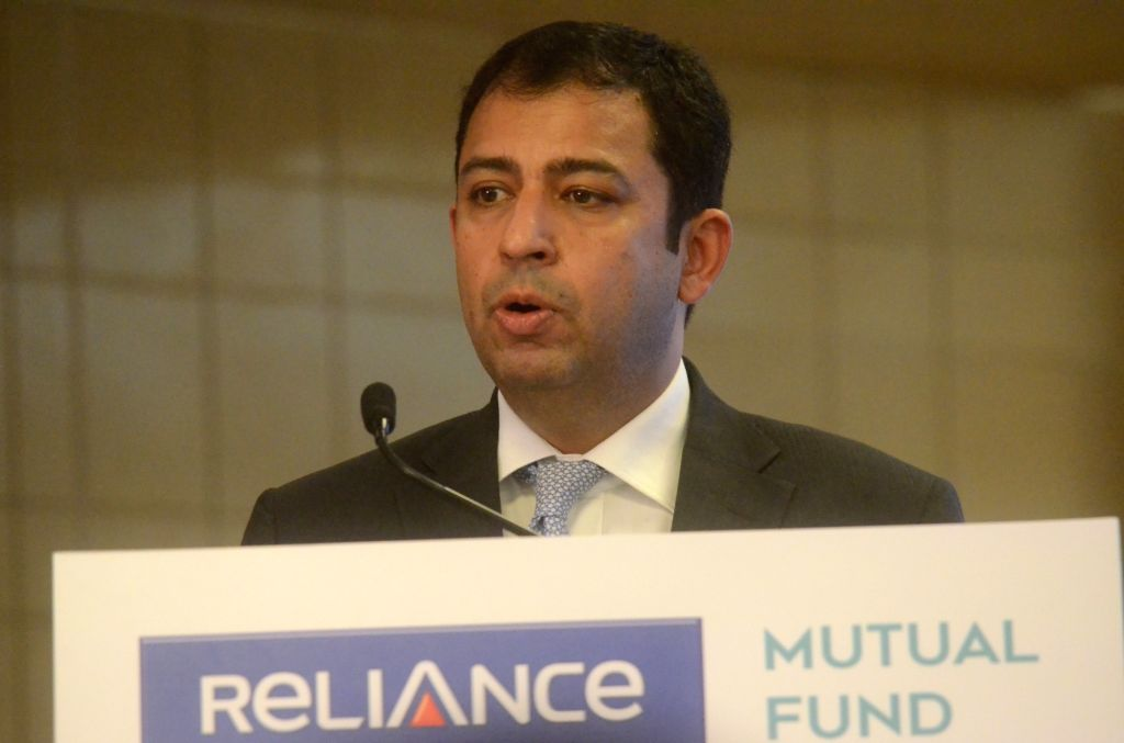 Reliance Nippon Life Asset Management ED and CEO Sundeep Sikka addresses a press conference to announce the board approval for the AMC IPO, in Mumbai on June 7, 2017.