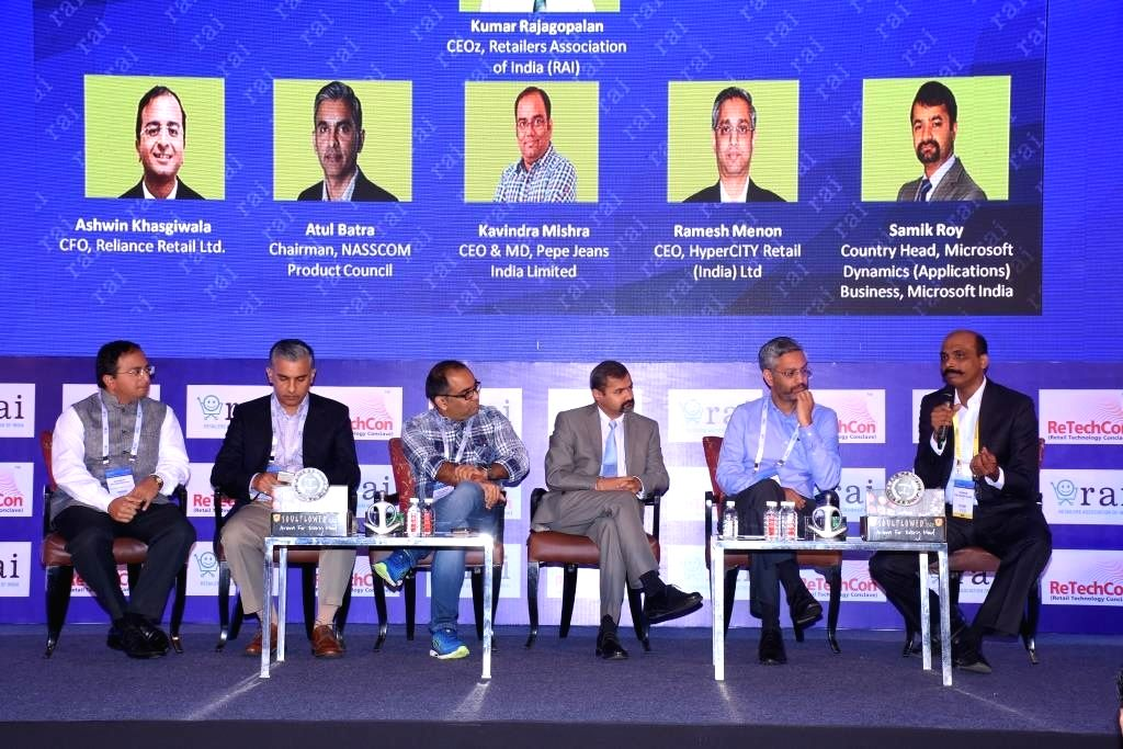 Reliance Retail Ltd CFO Ashwin Khasgiwala, NASSCOM Product Council Chairman Atul Batra, Pepe Jeans India Limited CEO & MD Kavindra Mishra, Microsoft India, Microsoft Dynamics Business ... - Kavindra Mishra and Ramesh Menon