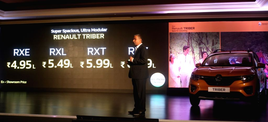 Renault India MD and CEO Venkatram Mamillapalle at the launch of Renault Triber in New Delhi on Aug 28, 2019.