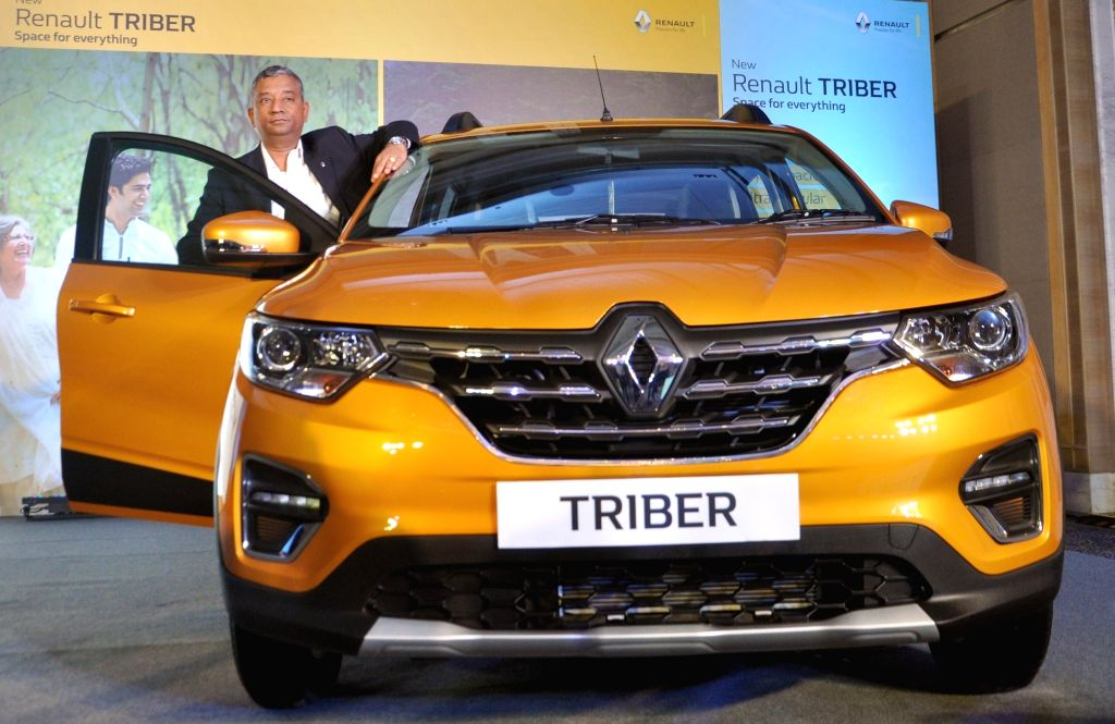 Renault India Operations Country CEO and MD Venkatram Mamillapalle poses with the newly launched Renault Triber in Kolkata on Aug 29, 2019.