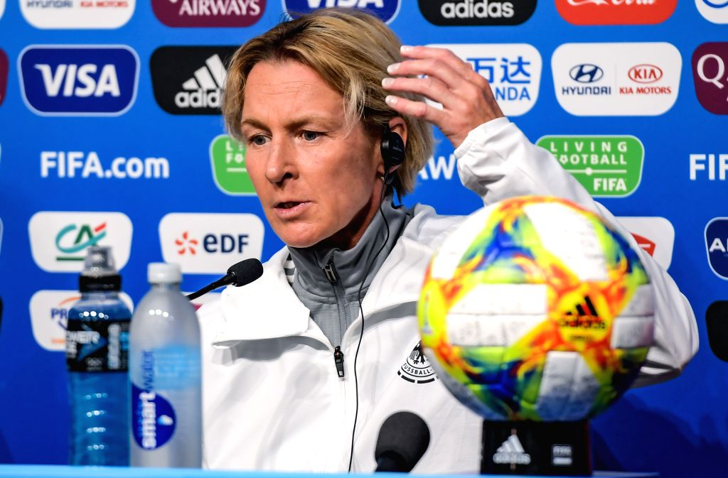 RENNES, June 7, 2019 - Head Coach Martina Voss-Tecklenburg of Germany attends a press conference ahead of the group B match between China and Germany at the 2019 FIFA Women's World Cup in Rennes, ...