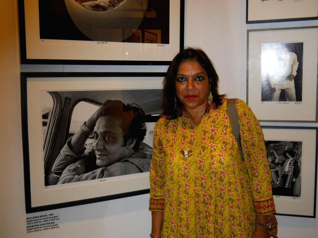 "Renowned Film-maker Mira Nair at the Kolkata preview of photographer Nemai Ghosh's exhibition ""Satyajit Ray and Beyond"" presented by Delhi Art Gallery in kolkata on August 16, 2013. ..."
