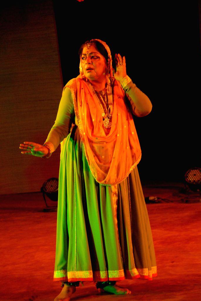 Renowned Kathak dancer Uma Sharma during a performance - Sharma