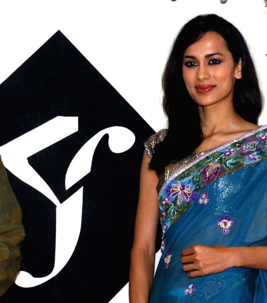 Renowned model Sonalika Sahay in Kolkata on Tuesday 10th Mar 09 for the occasion of inaugural function of the official website of Kolkata Fashion week (kolkatafashionweek.in.).