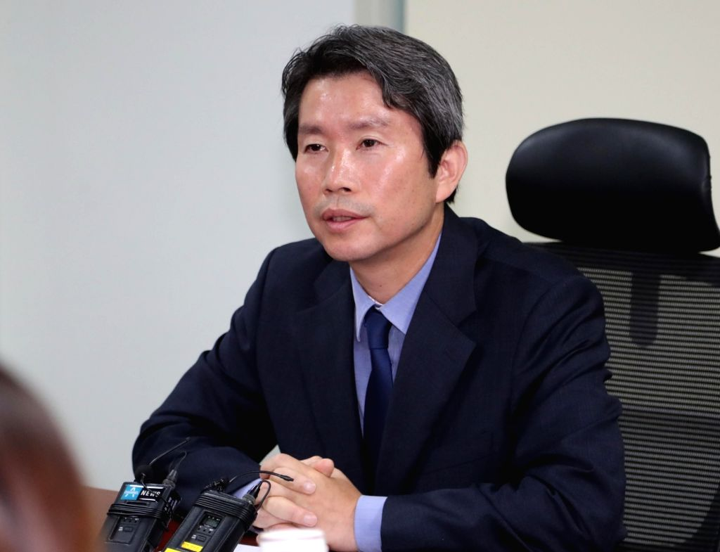 Rep. Lee In-young holds a press conference at the National Assembly in Seoul on July 22, 2018 to declare his bid to run in the ruling Democratic Party's leadership contest slated for next ...