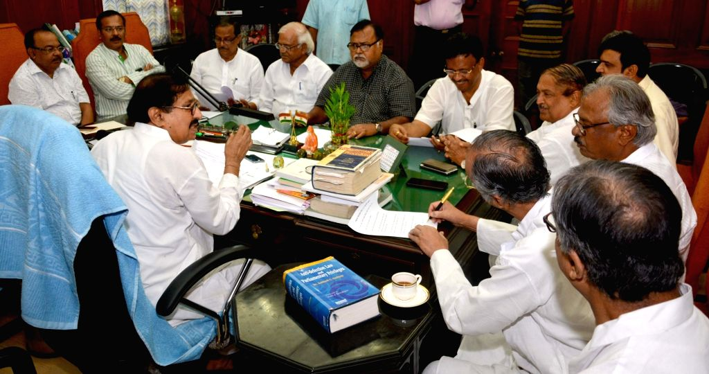 Representatives of different parties of West Bengal during an all party meeting called by state assembly speaker Biman Banerjee in Kolkata on Aug 2, 2017. - Biman Banerjee