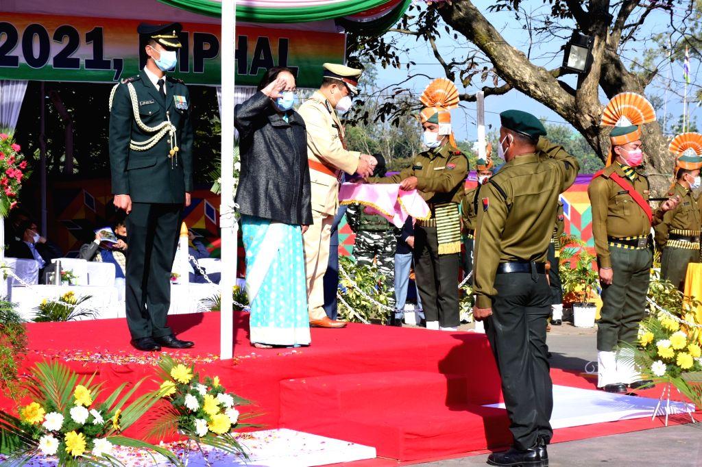 Republic Day celebrated in Manipur despite militants' boycott call. ( credit : @nheptulla twitter)