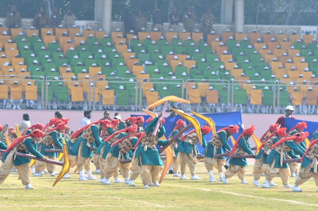 Republic Day celebrations underway at Chhatrasal Stadium in New Delhi on Jan 25, 2019.