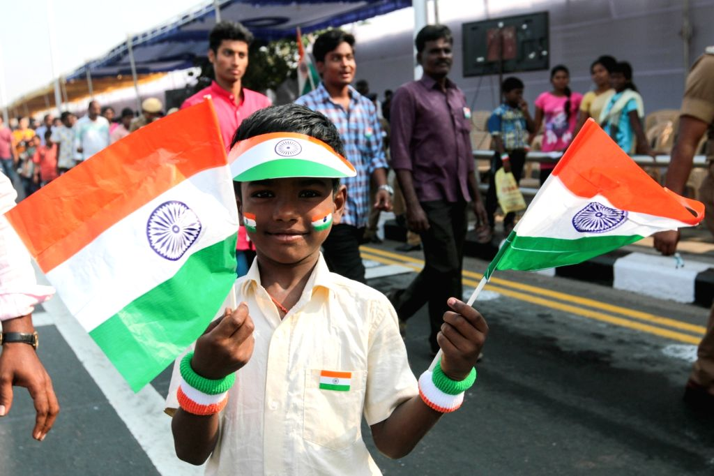 Republic Day celebrations underway in Chennai on Jan 26, 2018.