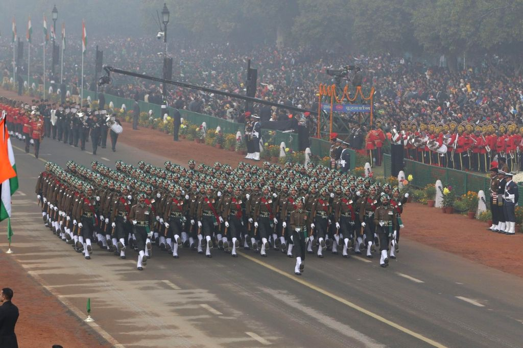 Republic Day Parade 2018 underway on Rajpath in New Delhi Jan 26, 2018.