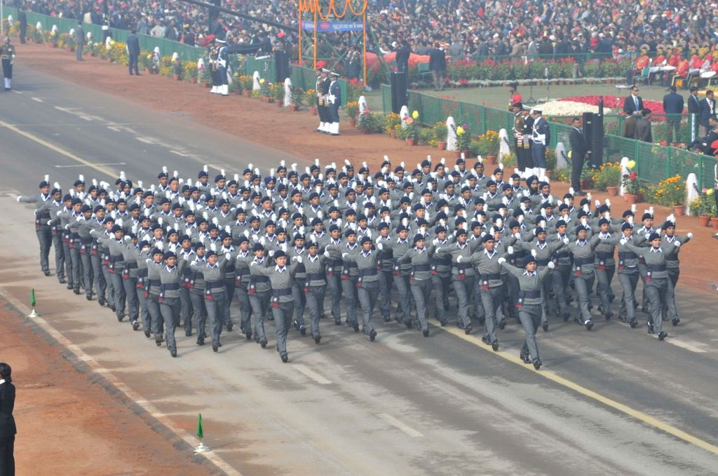 Republic Day Parade 2018 underway on Rajpath in New Delhi Jan 26, 2018. ​