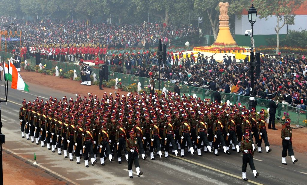 Republic Day Parade 2018 underway on Rajpath in New Delhi, on Jan 26, 2018.