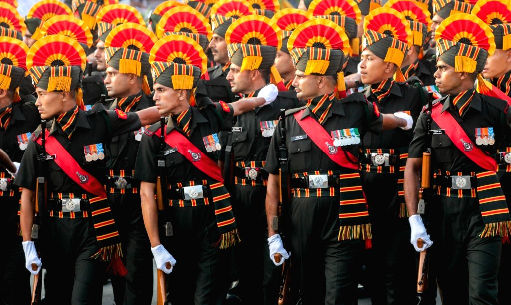Republic Day parade underway in Chennai on Jan 26, 2018.